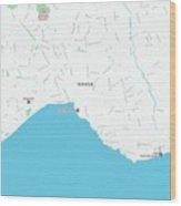Minimalist Modern Map Of Antalya, Turkey 1 Wood Print