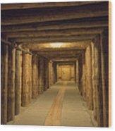 Mining Tunnel Wood Print