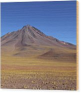 Miniques Volcano And High Altitude Desert Chile Wood Print