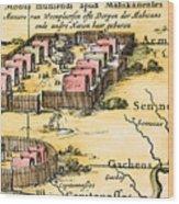 Minisink Village, 1650s Wood Print