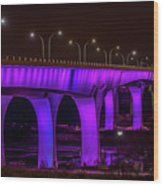 Minneapolis In Purple 6 Wood Print