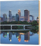 Minneapolis Reflections Wood Print