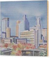 Minneapolis Skyline Wood Print