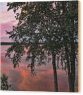 Minnesota Sunset Wood Print