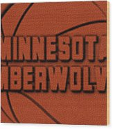 Minnesota Timberwolves Leather Art Wood Print