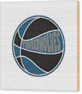 Minnesota Timberwolves Retro Shirt Wood Print