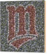 Minnesota Twins Baseball Mosaic Wood Print