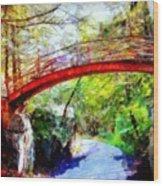 Minnewaska Wooden Bridge Wood Print
