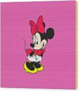 Minnie Wood Print