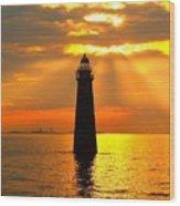 Minot's Ledge Lighthouse Wood Print by Joseph Gillette