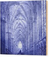 Minster In Blue Wood Print