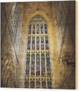 Minster Window Wood Print
