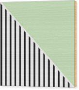Mint And Black Geometric Wood Print