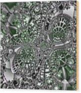 Mint Metal Wood Print