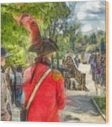 Minuteman And Redcoat Concord Ma Pencil Wood Print