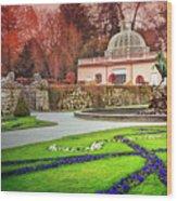 Mirabell Gardens Salzburg  Wood Print