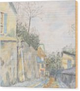 Mirage Of Utrillo Wood Print