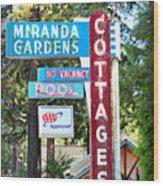 Miranda Gardens Wood Print