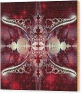 Mirror Gateway / Crop / Red Stars Wood Print