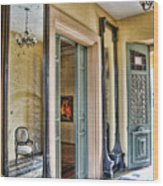 mirror in the palace of the Iturriza Wood Print