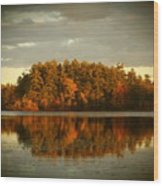 Mirror Lake Image Of Fall Wood Print