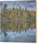 Mirror Morning Wood Print