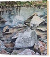 Mirror Pond Wood Print