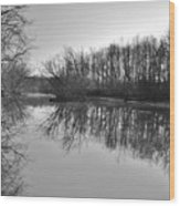 Mirror River Wood Print