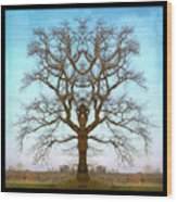 Mirror Tree Wood Print