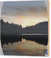 Mirrored Lake Wood Print