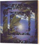 Mirrored Leaf Wood Print