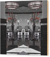 Mirrored Salon  Wood Print