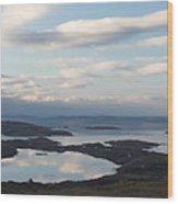 Mirrored Sky In Connemara Ireland Wood Print