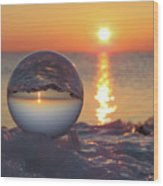 Mirrored Sunrise Wood Print