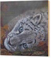 Mirucha In Fall Wood Print
