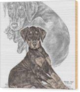 Mischief ... Moi? - Doberman Pinscher Puppy - Color Tinted Wood Print