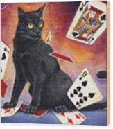 Mischief Kitten Wood Print