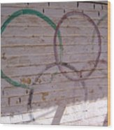 Miscolored Olympic Rings Wood Print