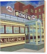 Miss Albany Diner Wood Print