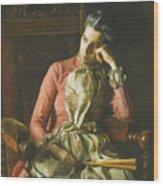 Miss Amelia Van Buren Wood Print