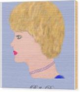 Miss Bella Donna Wood Print