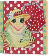 Miss Belle Frog Wood Print