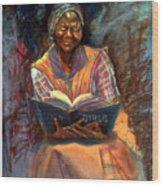 Miss Betty Wood Print by Tommy  Winn