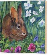 Miss Bunny Wood Print