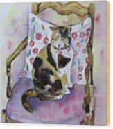 Miss Chiepie Wood Print