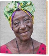 Miss Cuba Wood Print