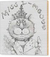 Miss E-mouse Wood Print