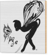 Miss Fifi Is Given Wings Wood Print
