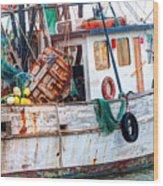 Miss Hale Shrimp Boat - Side Wood Print