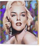 Miss Monroe Wood Print